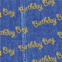 Blue Birthday Boy Patterned Tissue Wrapping Paper ~ Small Sheets ~ 50cm x 37.5cm